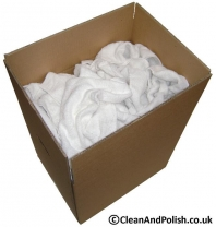 100% Cotton White Terry Towelling Cleaning Cloth a426dda9a